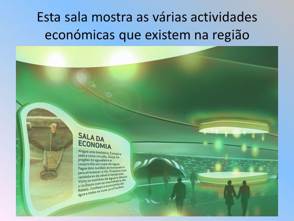 Esta sala mostra as várias actividades económicas que existem na região