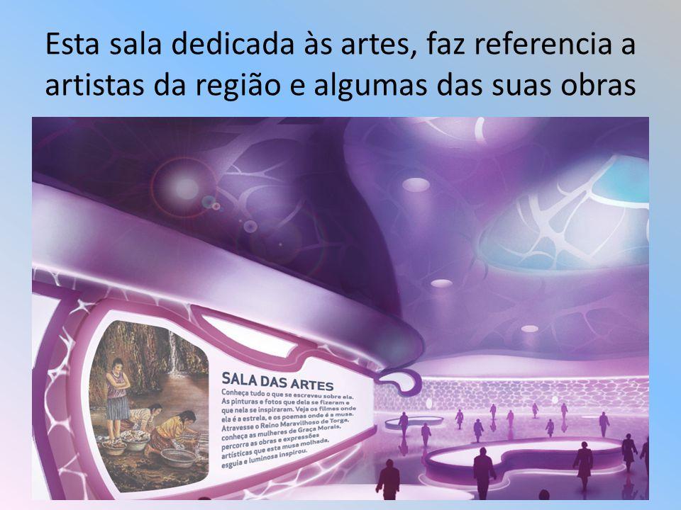 Esta sala dedicada às artes, faz referencia a artistas da região e algumas das suas obras