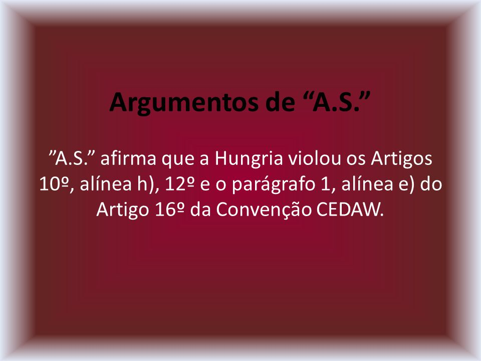 Argumentos de A.S. A.S.