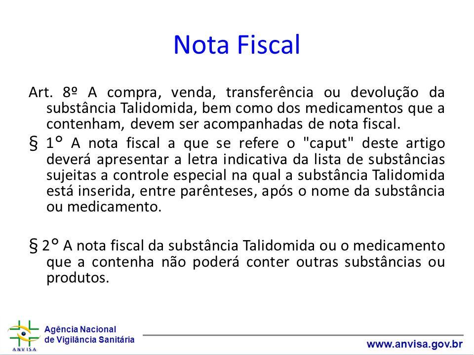 Nota Fiscal Art.