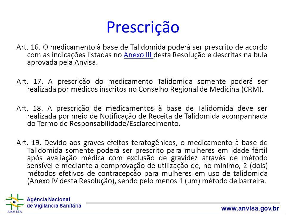 Prescrição Art.16.