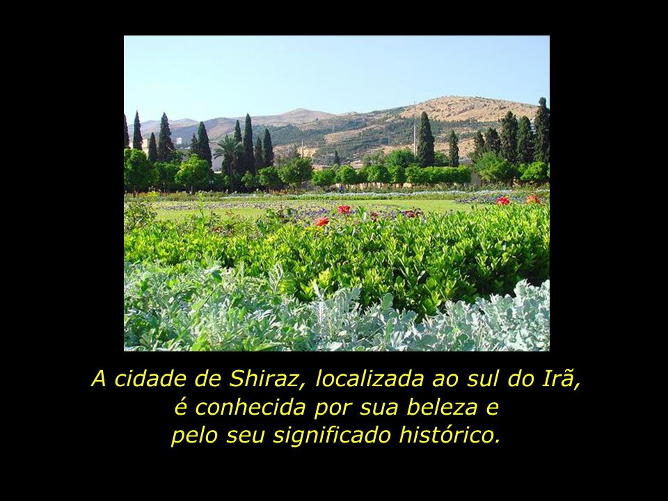 A cidade de Shiraz, localizada ao sul do Irã, é conhecida por sua beleza e pelo seu significado histórico.