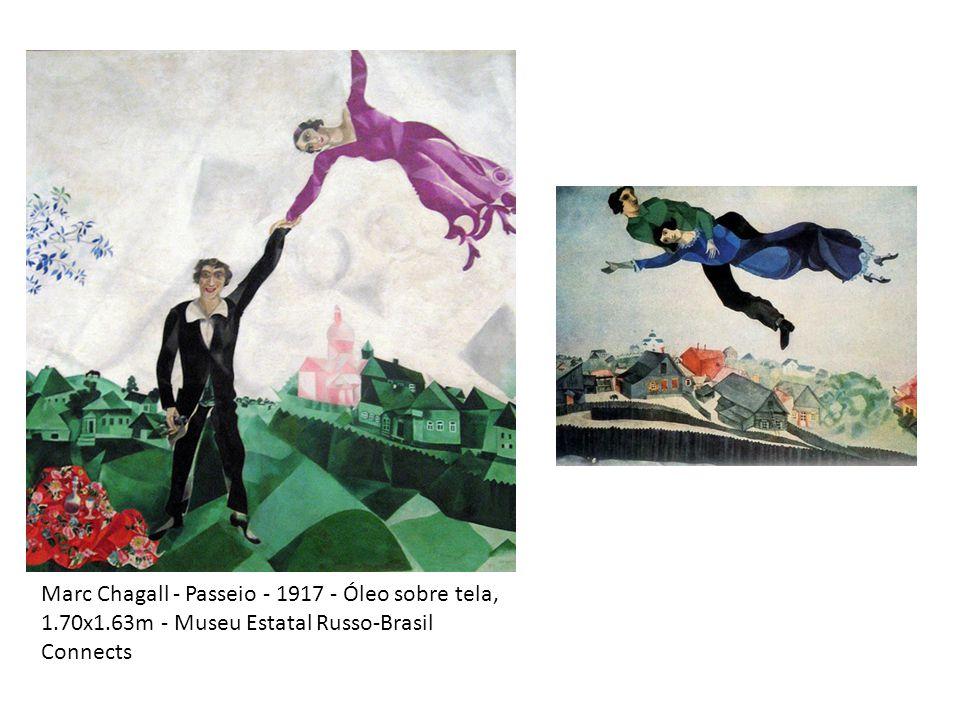 Marc Chagall - Passeio - 1917 - Óleo sobre tela, 1.70x1.63m - Museu Estatal Russo-Brasil Connects