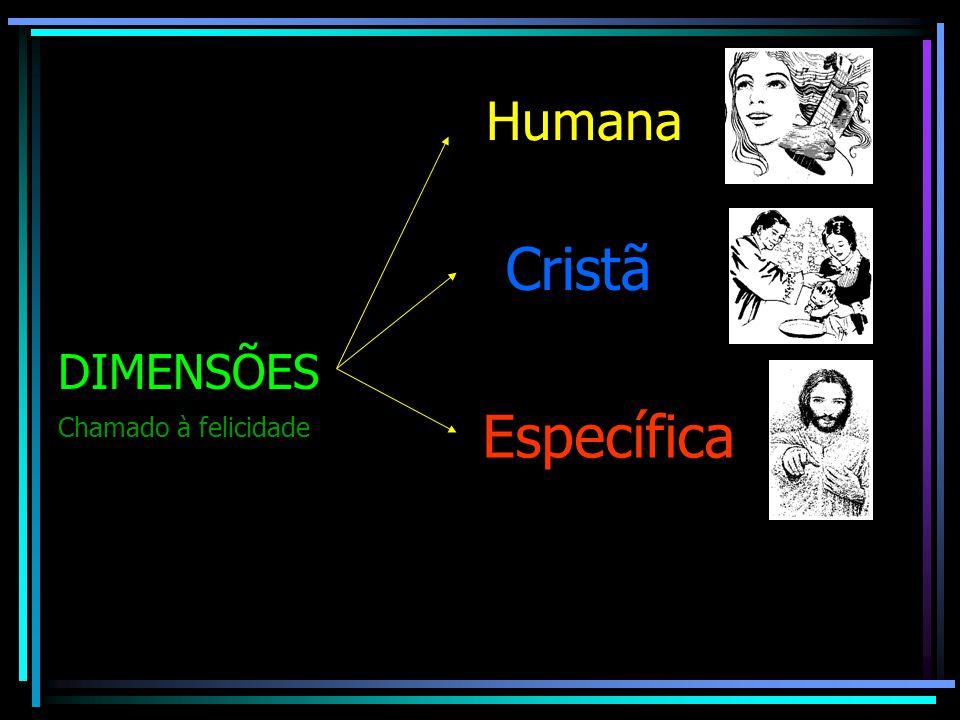 DIMENSÕES Humana Cristã Específica Chamado à felicidade
