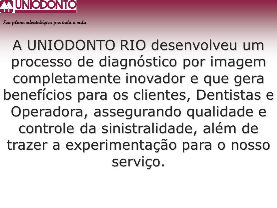A UNIODONTO RIO desenvolveu um processo de diagnóstico por imagem completamente inovador e que gera benefícios para os clientes, Dentistas e Operadora