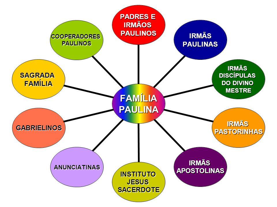 FAMÍLIAPAULINA PADRES E IRMÃOSPAULINOS IRMÃS IRMÃSPAULINAS IRMÃSDISCÍPULAS DO DIVINO MESTRE IRMÃSPASTORINHAS IRMÃSAPOSTOLINAS INSTITUTOJESUSSACERDOTE