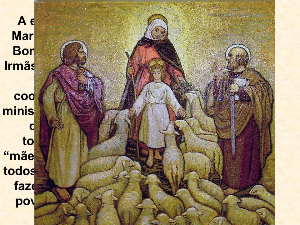 A exemplo de Maria, a Mãe do Bom Pastor, as Irmãs Pastorinhas vivem a cooperação no ministério pastoral de Cristo, tornando-se mães e irmãs de todos a
