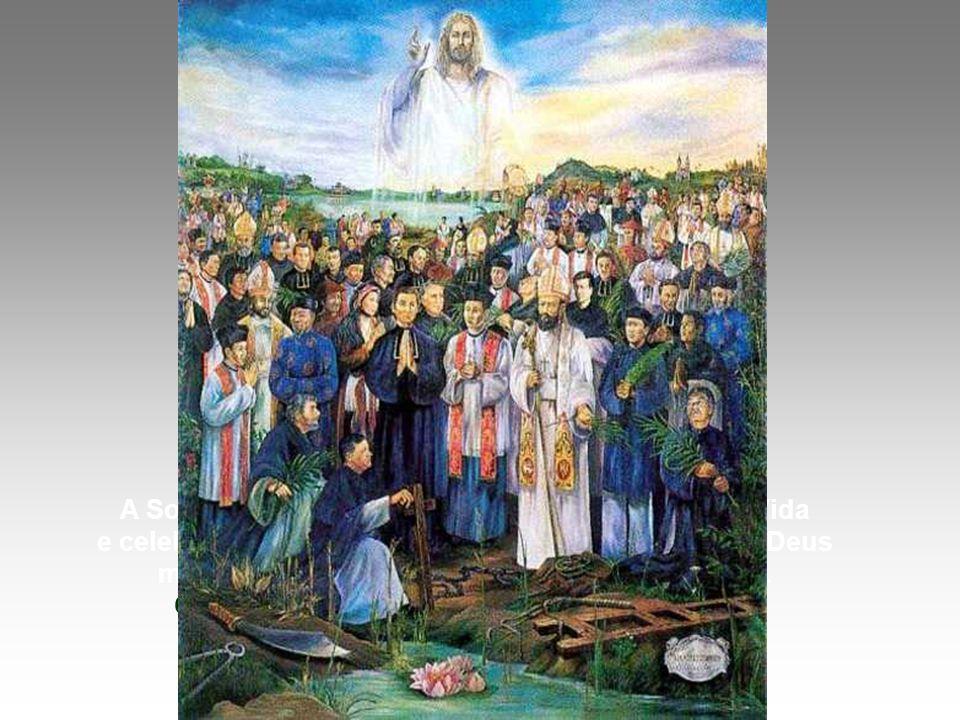No Evangelho, Jesus apresenta uma proposta de Santidade, resumida nas BEM-AVENTURANÇAS: (Mt 5,1-12) * O melhor CAMINHO para a Santidade é a vivência das Bem aventuranças.