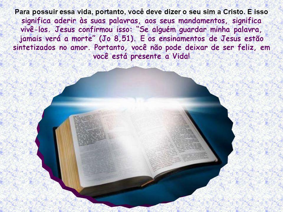 Crer, nesse caso, é um fato muito sério, muito importante: não exige apenas aceitar as verdades anunciadas por Jesus, mas também aderir a elas com todo o ser.