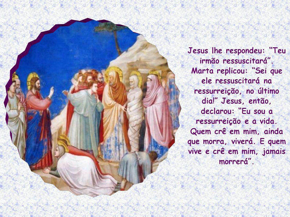 Jesus lhe respondeu: Teu irmão ressuscitará.