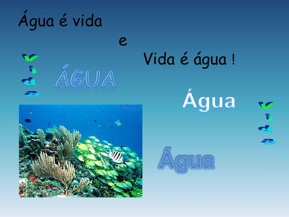 Água é vida e Vida é água !