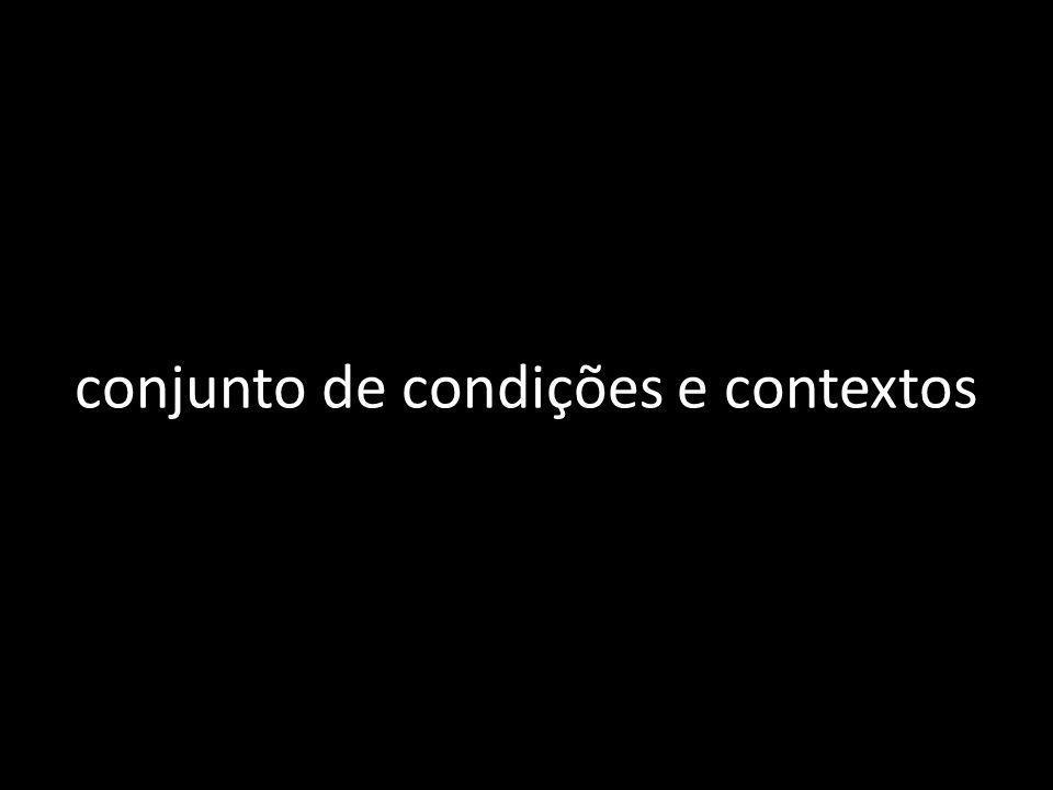 conjunto de condições e contextos