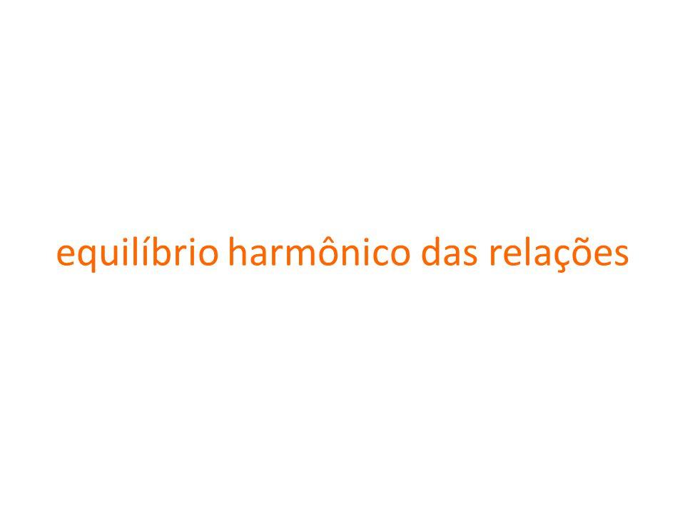 equilíbrio harmônico das relações