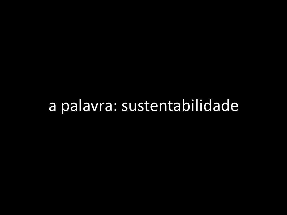 a palavra: sustentabilidade