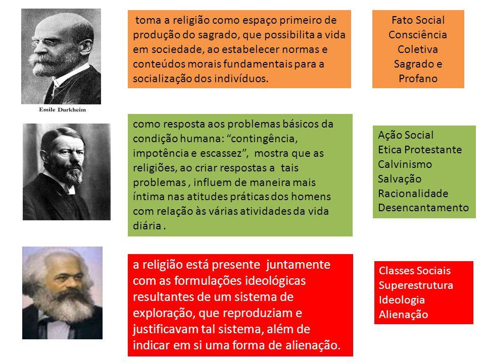 a religião está presente juntamente com as formulações ideológicas resultantes de um sistema de exploração, que reproduziam e justificavam tal sistema