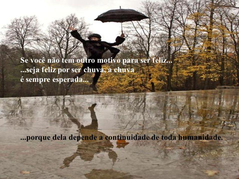 SEJA CHUVA! Seja chuva que molha os corações secos, vazios de amor, de esperança e de paz. Seja chuva que inunda os campos áridos, que molham os jardi