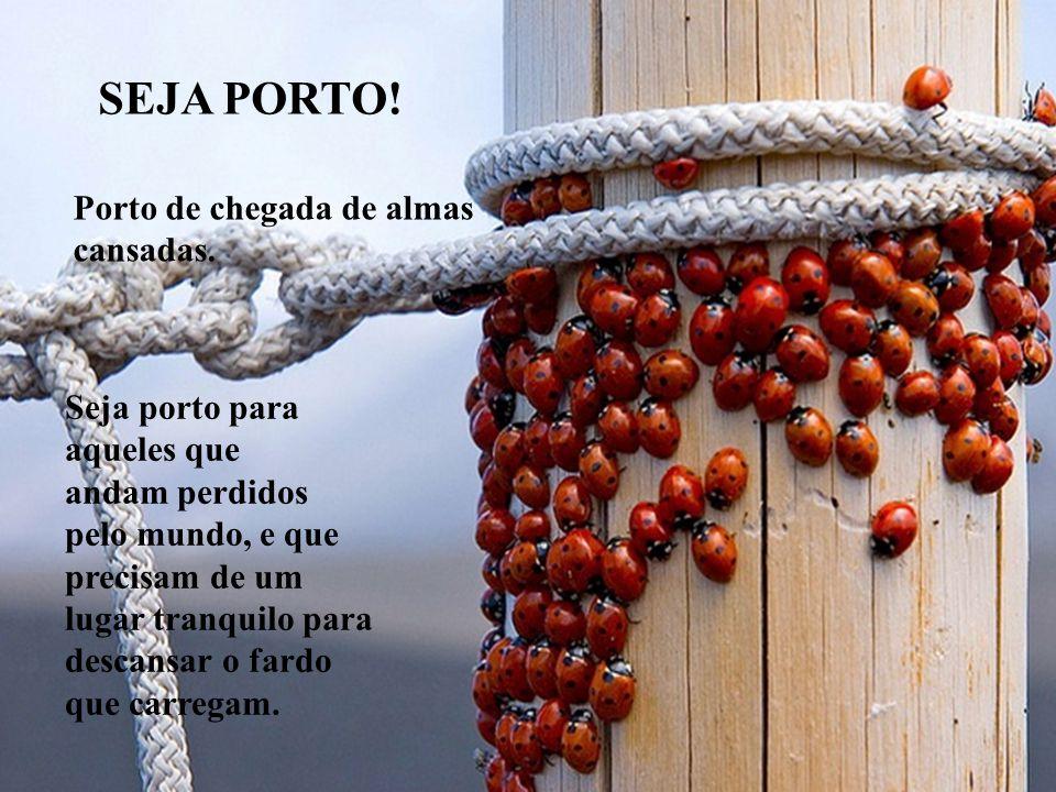 SER FONTE, SER PORTO, SER PONTE, SER ESTRADA, SER CHUVA, SER ESTRELA, SER ÁRVORE..