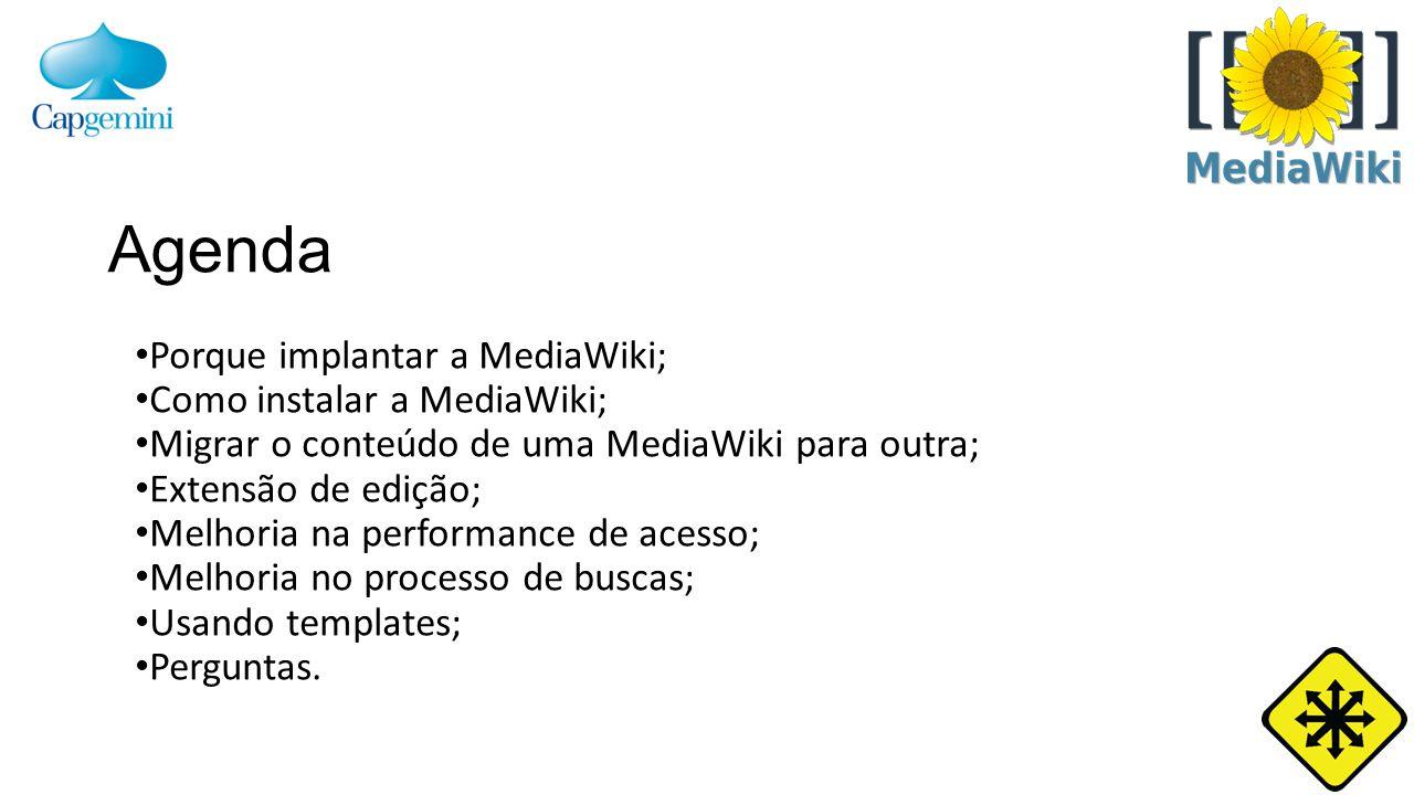 MediaWiki s com bases grandes são lentas; Melhoria na performance de acesso.