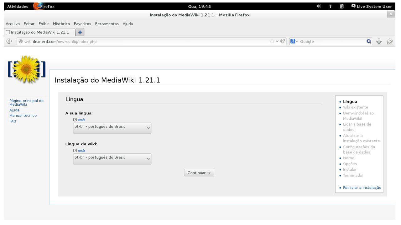 Migrar o conteúdo de uma MediaWiki para outra Acessar as ferramentas no diretório maintence da wiki; 1° - Fazer um DUMP com o comando php dumpBackup.php > wiki.xml; 2° - Fazer uma cópia do diretório das imagens no raiz da wiki, que geralmente é /var/www/html/mediwiki/ na wiki de destino; 3° - Fazer a cópia do wiki.xml na wiki de destino;