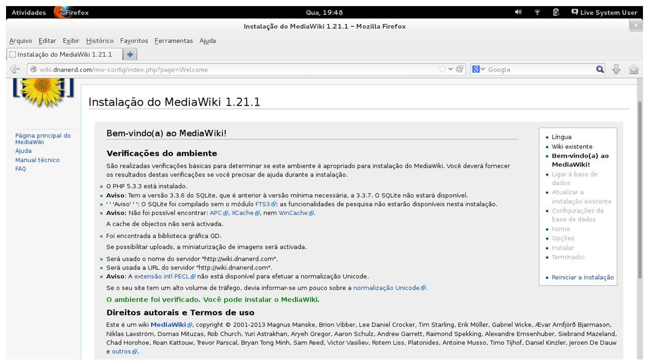 4° - Acessar a MediaWiki de destino no diretório maintence; 5° - Executar o comando php importDump.php < wiki.xml; 6° - Executar o comando php importImages.php /bkp/mediawiki-old/images/; 7° - Executar o comando php rebuildall.php e php update.php; Migrar o conteúdo de uma MediaWiki para outra
