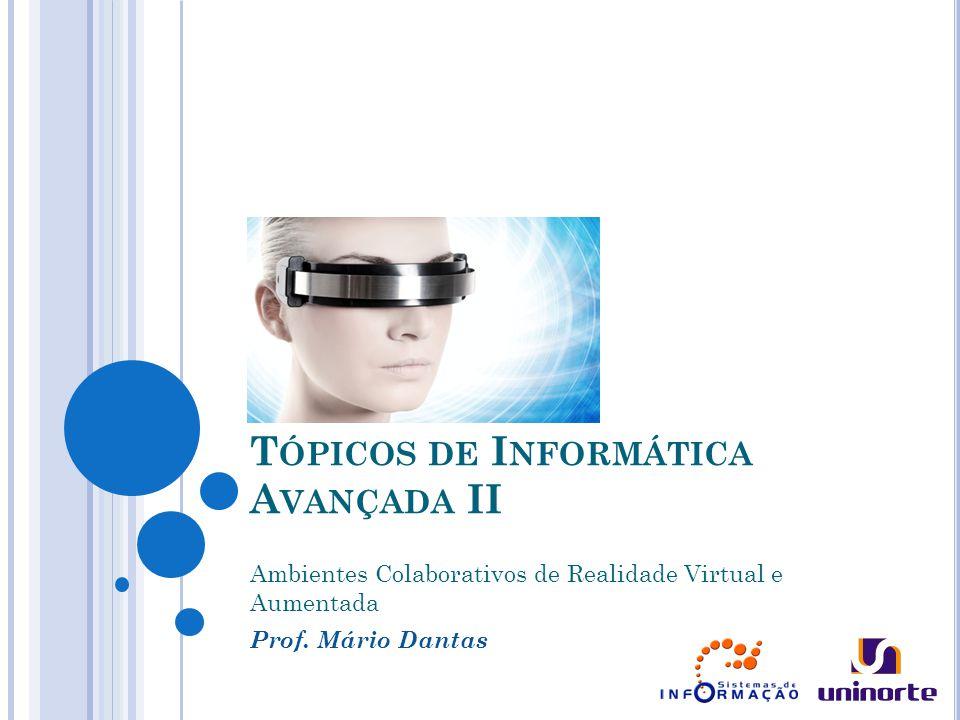 T ÓPICOS DE I NFORMÁTICA A VANÇADA II Ambientes Colaborativos de Realidade Virtual e Aumentada Prof.