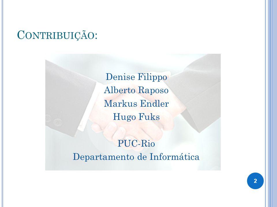 Denise Filippo Alberto Raposo Markus Endler Hugo Fuks PUC-Rio Departamento de Informática C ONTRIBUIÇÃO : 2