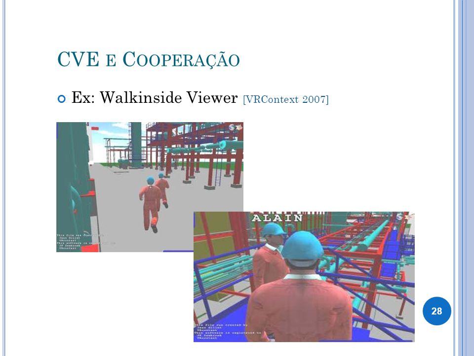 CVE E C OOPERAÇÃO Ex: Walkinside Viewer [VRContext 2007] 28