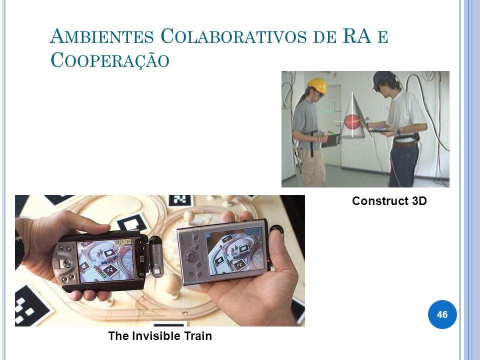 A MBIENTES C OLABORATIVOS DE RA E C OOPERAÇÃO The Invisible Train Construct 3D 46