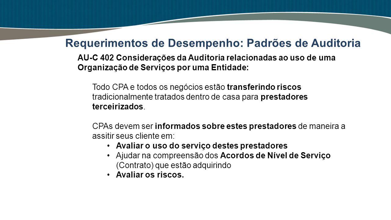 AU-C 402 Considerações da Auditoria relacionadas ao uso de uma Organização de Serviços por uma Entidade: Todo CPA e todos os negócios estão transferin
