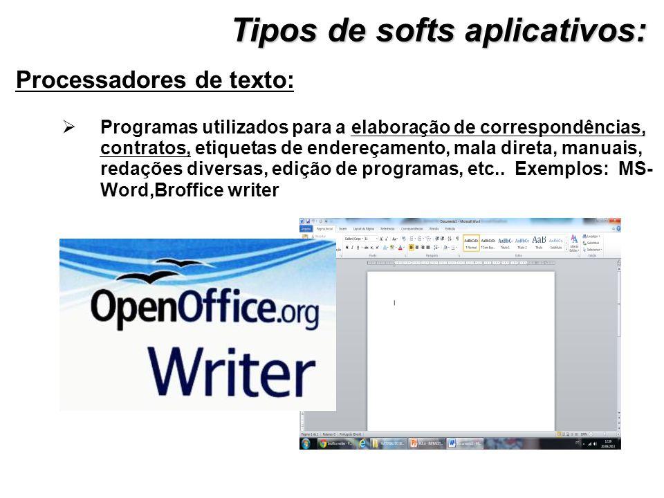 Processadores de texto: Programas utilizados para a elaboração de correspondências, contratos, etiquetas de endereçamento, mala direta, manuais, redaç