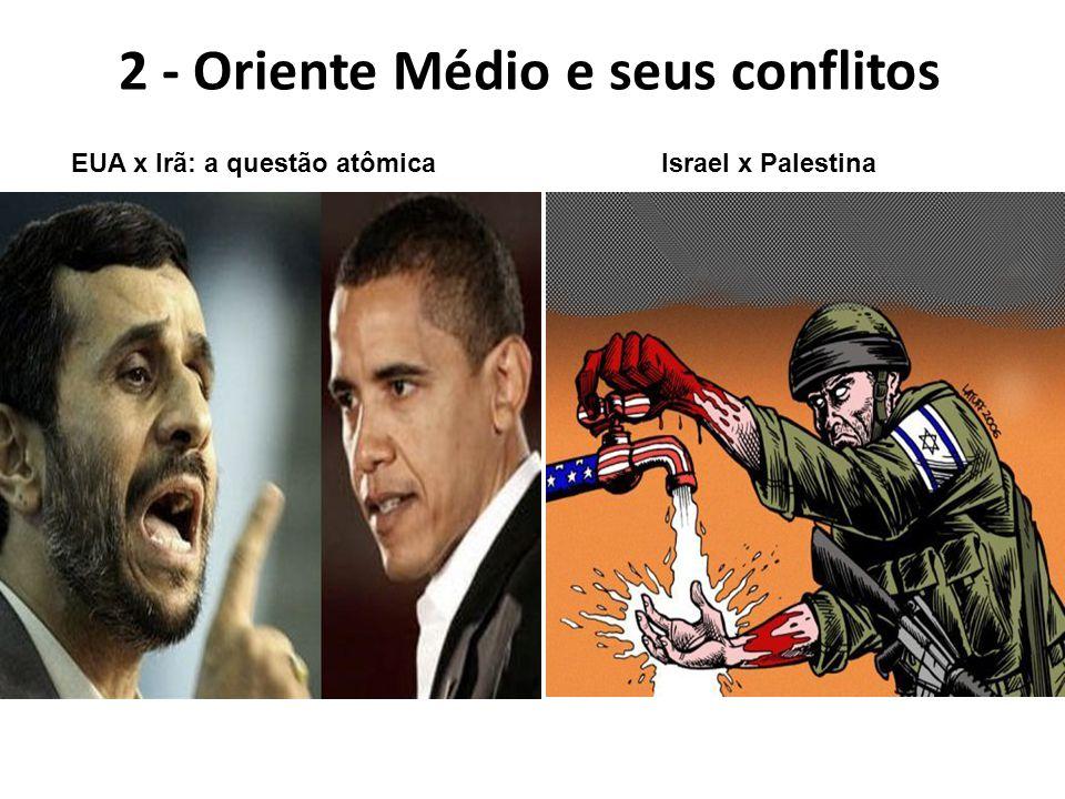 2 - Oriente Médio e seus conflitos EUA x Irã: a questão atômicaIsrael x Palestina