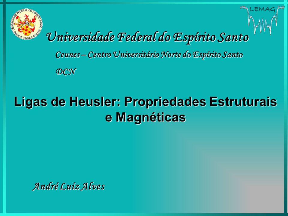 LEMAG Ligas de Heusler: Propriedades Estruturais e Magnéticas André Luíz Alves Universidade Federal do Espírito Santo Ceunes – Centro Universitário No