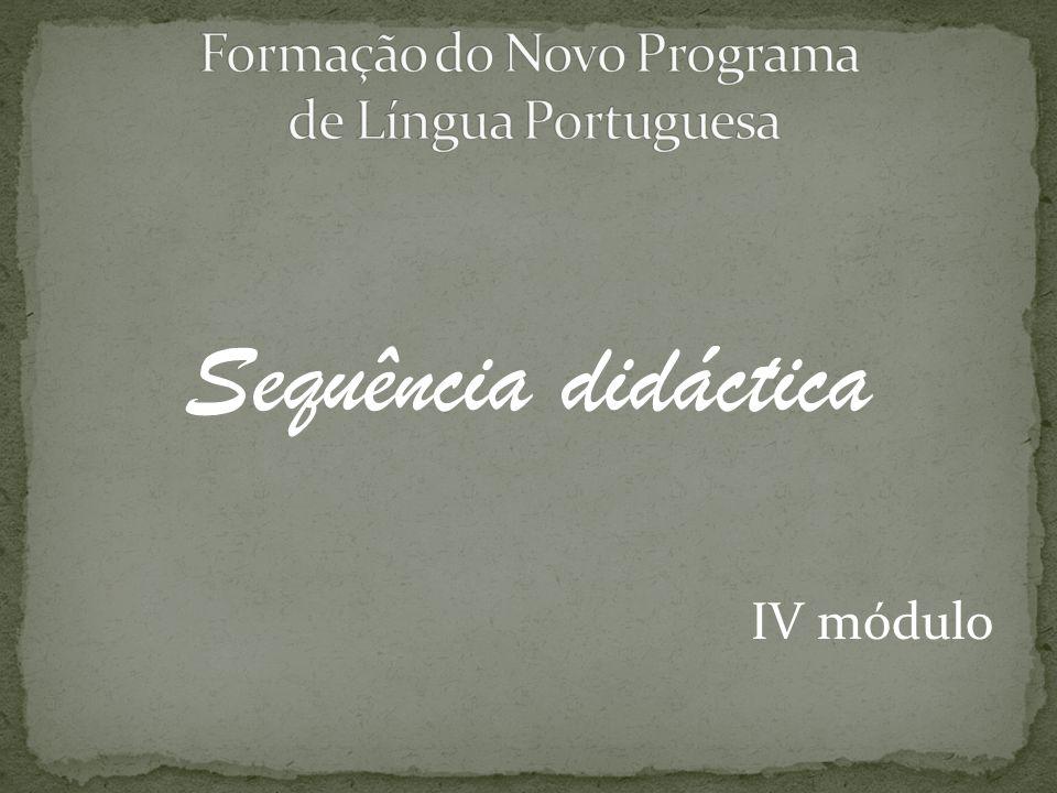 Sequência didáctica IV módulo