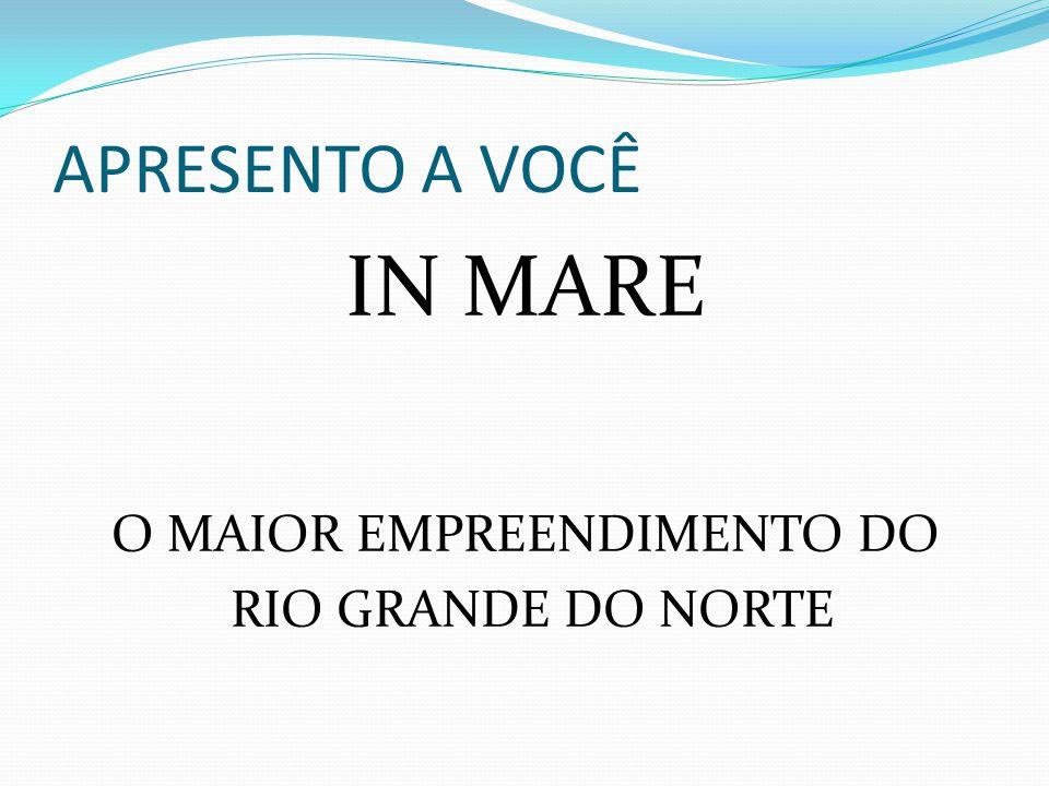 APRESENTO A VOCÊ IN MARE O MAIOR EMPREENDIMENTO DO RIO GRANDE DO NORTE