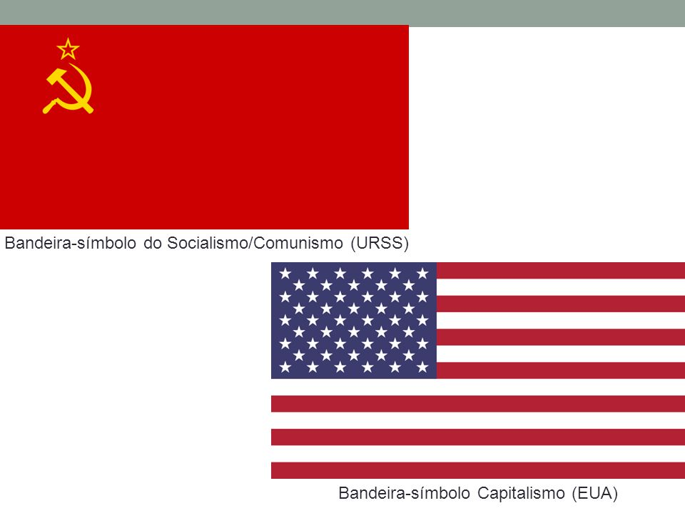 Bandeira-símbolo do Socialismo/Comunismo (URSS) Bandeira-símbolo Capitalismo (EUA)