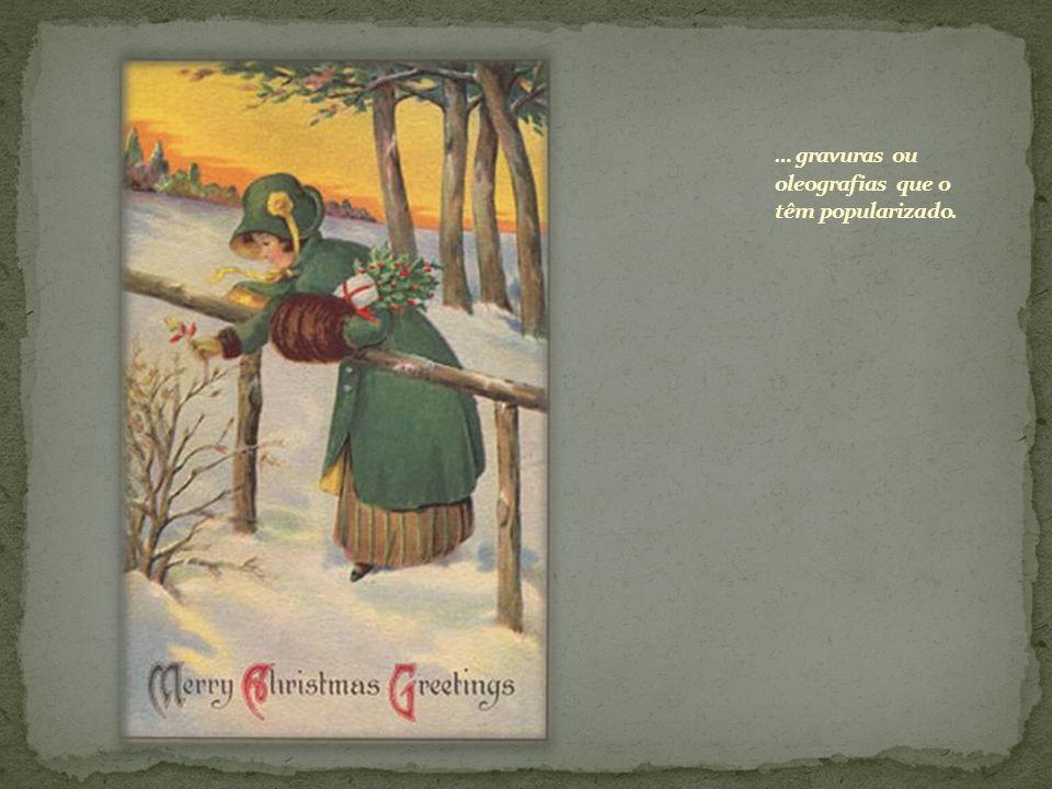 E toda a poesia do Natal está justamente nessas janelas resplandecendo na noite nevada.