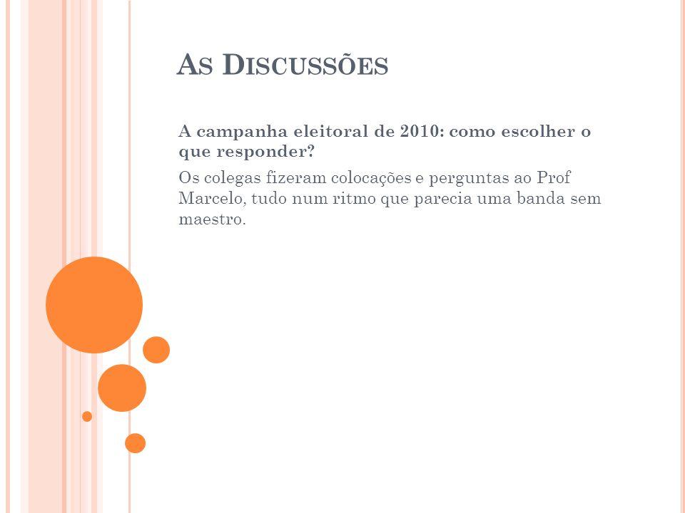 A S D ISCUSSÕES Diferença dos conceitos e nomenclaturas na área de mídia e redes sociais.