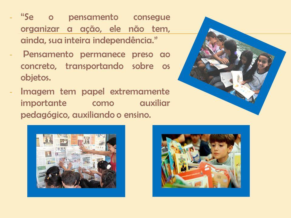 Crianças no estágio do pensamento operatório formal (após os 12 anos): - Passa do plano da manipulação do concreto para o plano da ideias, expressão em qualquer linguagem, por exemplo, a matemática.