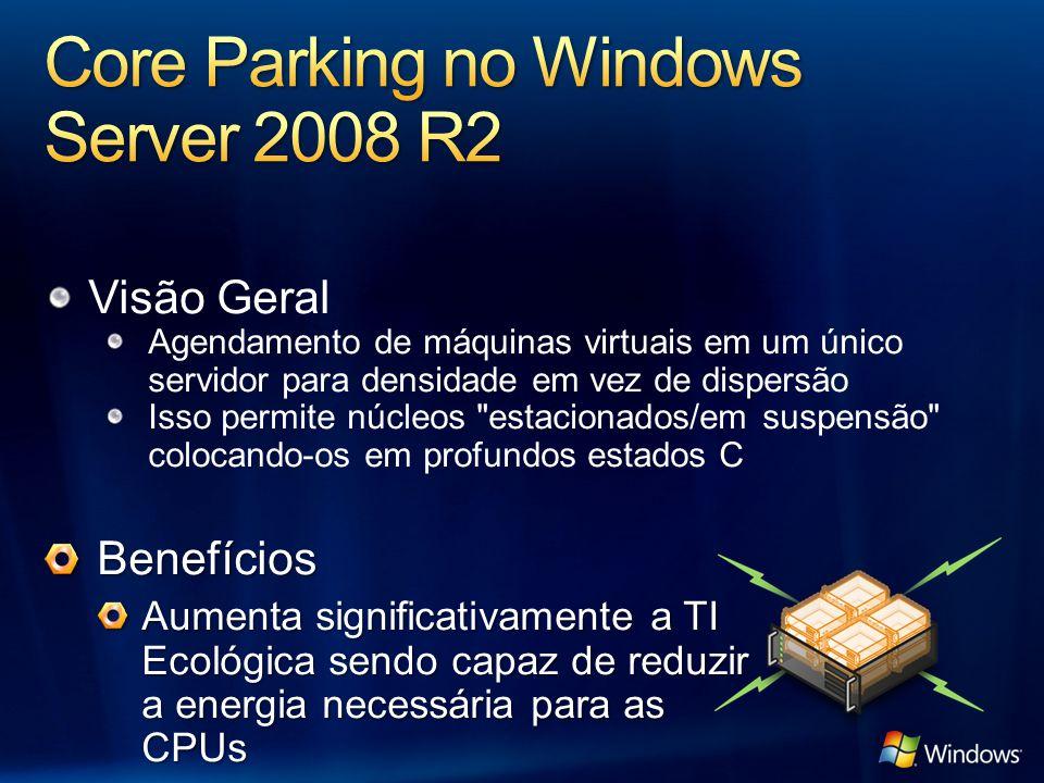 Visão Geral Agendamento de máquinas virtuais em um único servidor para densidade em vez de dispersão Isso permite núcleos