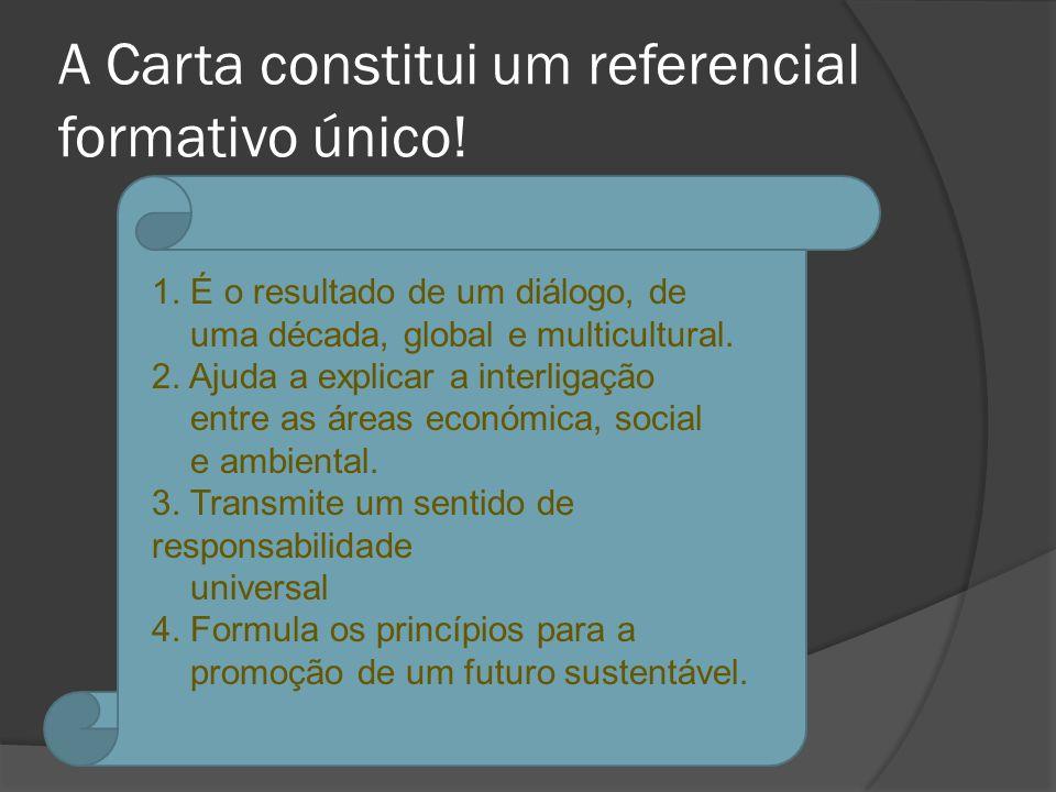 A Carta constitui um referencial formativo único.1.