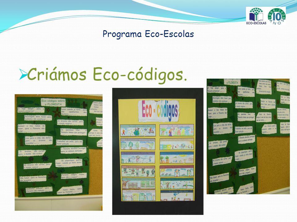 Programa Eco-Escolas Criámos Eco-códigos.