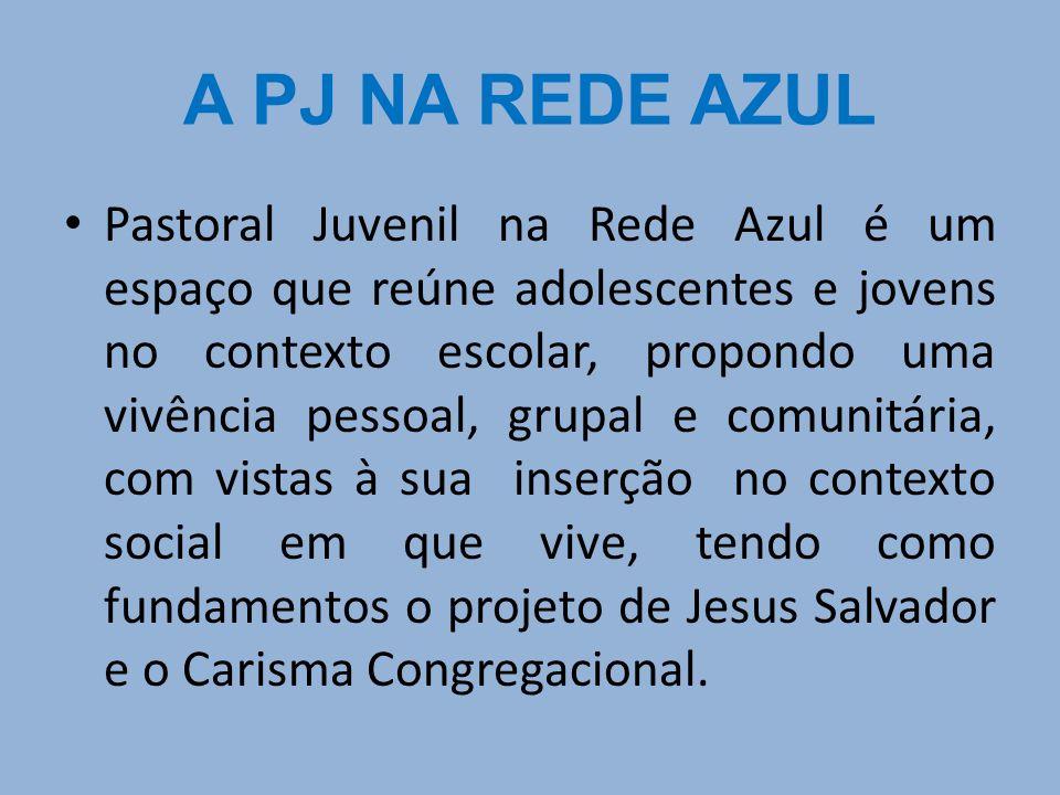 Pastoral Juvenil na Rede Azul é um espaço que reúne adolescentes e jovens no contexto escolar, propondo uma vivência pessoal, grupal e comunitária, co