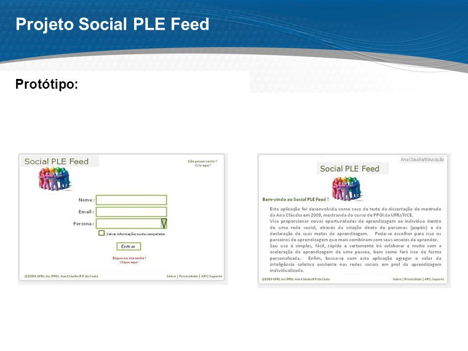Page 10 Projeto Social PLE Feed Protótipo: