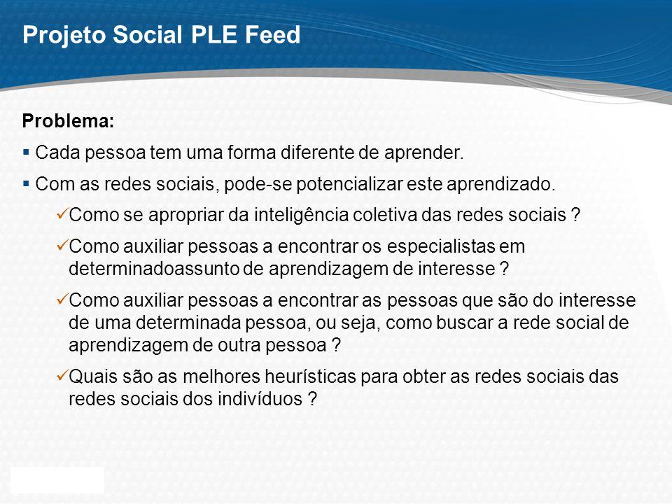 Page 13 Projeto Social PLE Feed Protótipo: