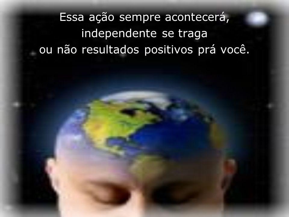 A mente humana grava e executa tudo que lhe é enviado. Seja através de palavras, pensamentos ou atos, seus ou de terceiros, sejam positivos ou negativ