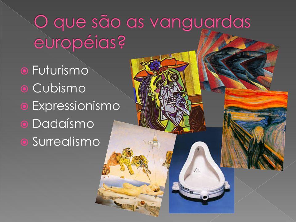 Futurismo Cubismo Expressionismo Dadaísmo Surrealismo