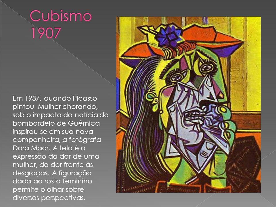 Em 1937, quando Picasso pintou Mulher chorando, sob o impacto da notícia do bombardeio de Guérnica inspirou-se em sua nova companheira, a fotógrafa Do