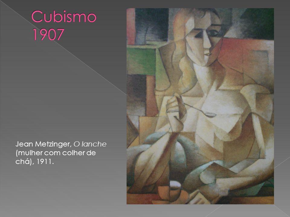 Jean Metzinger, O lanche (mulher com colher de chá), 1911.