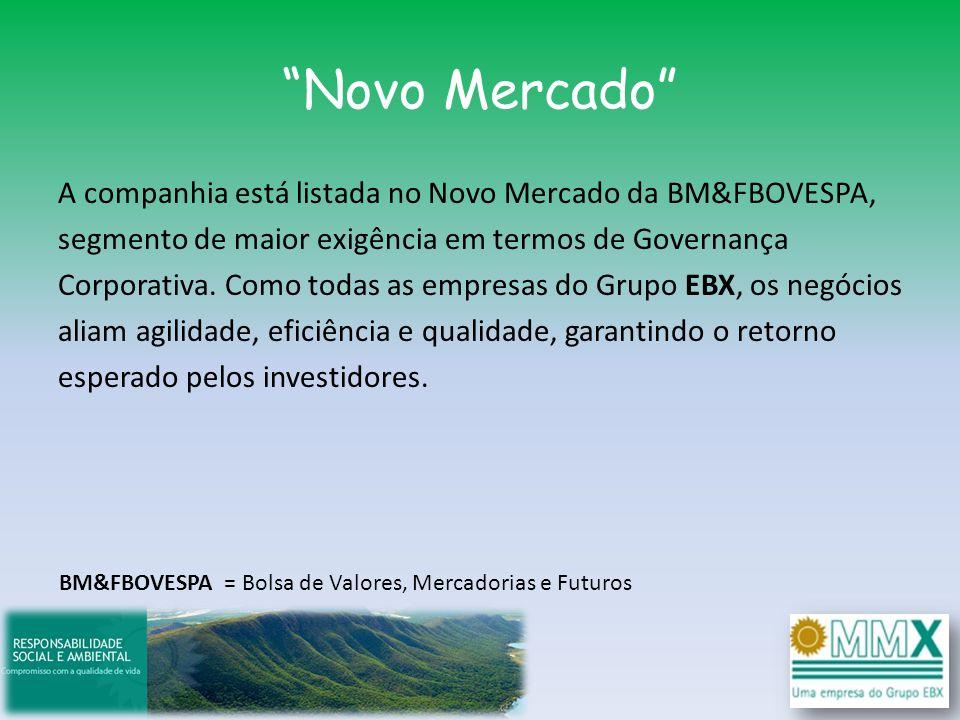 Novo Mercado A companhia está listada no Novo Mercado da BM&FBOVESPA, segmento de maior exigência em termos de Governança Corporativa. Como todas as e
