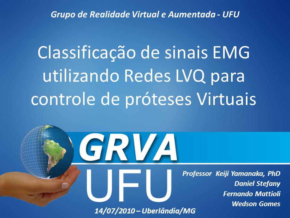Classificação de sinais EMG utilizando Redes LVQ para controle de próteses Virtuais Professor Keiji Yamanaka, PhD Daniel Stefany Fernando Mattioli Wed